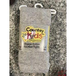 Country Kids Cotton Blend Footless Tights 1-3 Gray